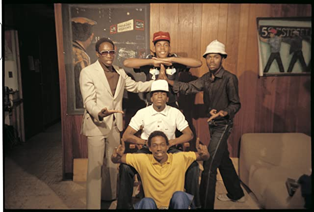 Charlie Chase, Grandmaster Caz, J.D.L., Easy A.D., and Almighty K.G. in Wild Style (1983)