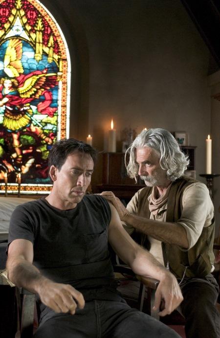 Nicolas Cage and Sam Elliott in Ghost Rider (2007)