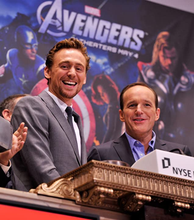 Clark Gregg and Tom Hiddleston at The Avengers (2012)