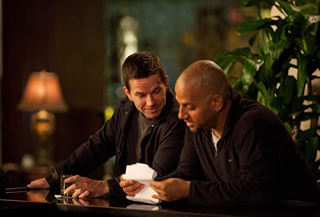 Mark Wahlberg and Allen Hughes in Broken City (2013)