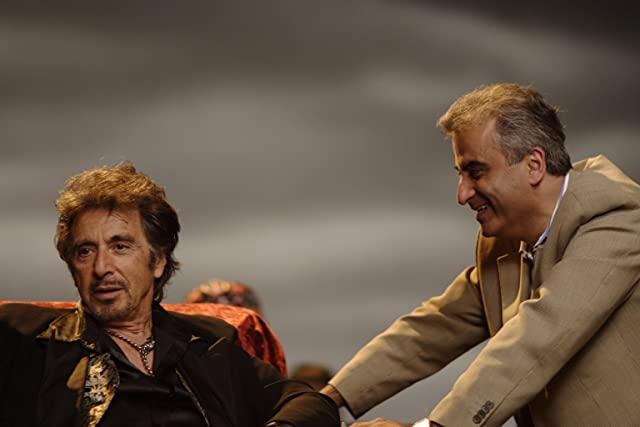 Barry Navidi and Al Pacino on the set of Wilde Salome