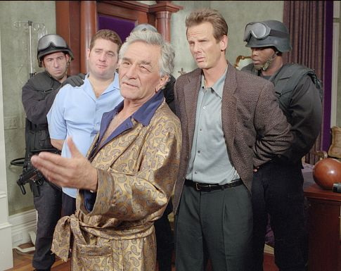 Peter Falk, Peter Berg, and Chris Penn in Corky Romano (2001)