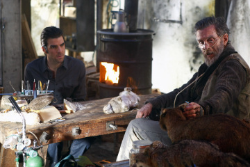 John Glover and Zachary Quinto in Heroes (2006)