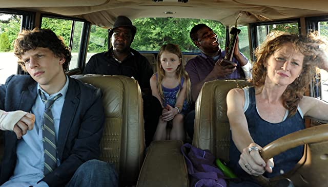 Jesse Eisenberg, Melissa Leo, Tracy Morgan, Isiah Whitlock Jr., and Emma Rayne Lyle in Why Stop Now? (2012)