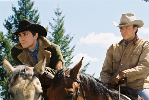 Heath Ledger and Jake Gyllenhaal in Brokeback Mountain (2005)