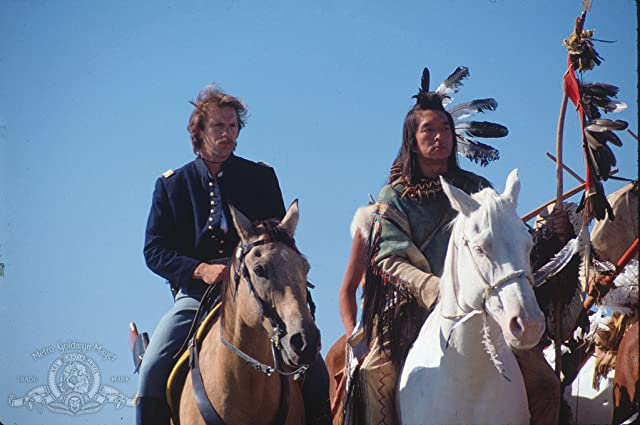 Kevin Costner and Graham Greene in Dances with Wolves (1990)