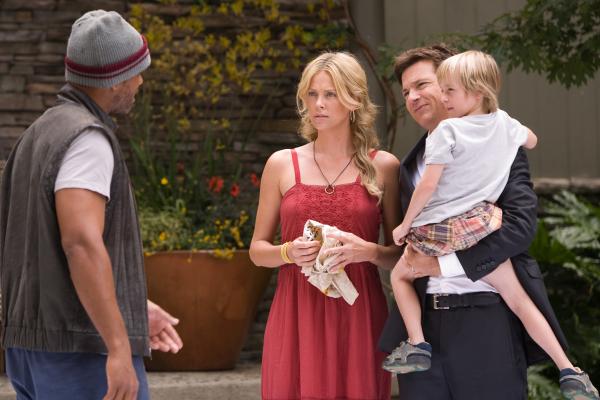 Will Smith, Charlize Theron, Jason Bateman, and Jae Head in Hancock (2008)