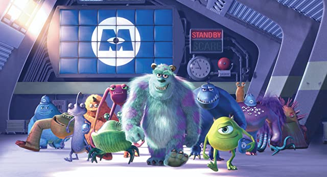 Steve Buscemi, Billy Crystal, and John Goodman in Monsters, Inc. (2001)
