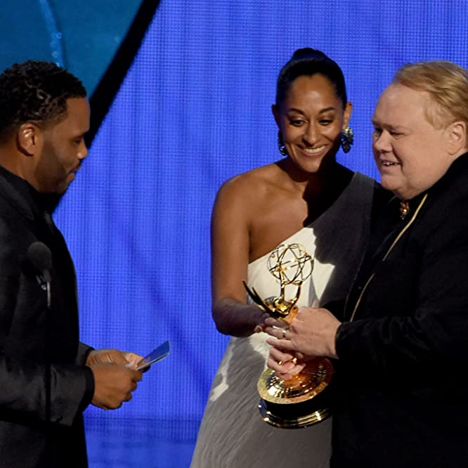 Louie Anderson, Anthony Anderson, and Tracee Ellis Ross at an event for The 68th Primetime Emmy Awards (2016)