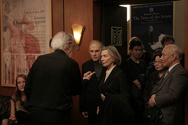 Jean-Louis Trintignant, Michael Haneke, and Emmanuelle Riva in Amour (2012)