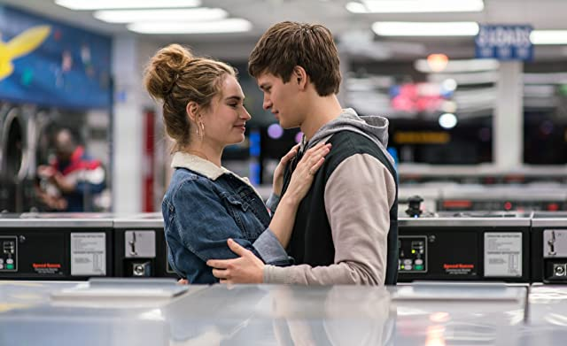 Lily James and Ansel Elgort in Baby Driver (2017)