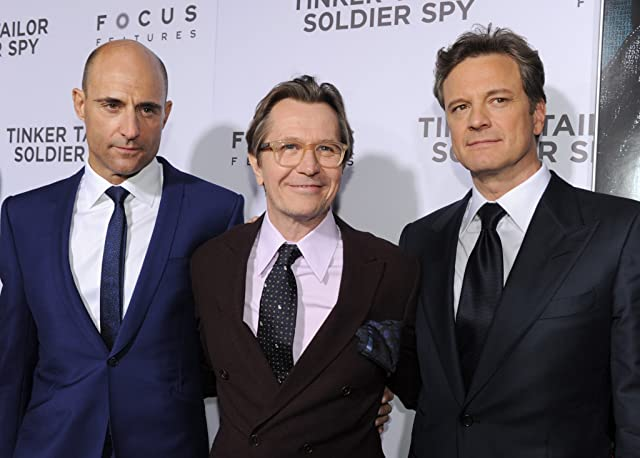 Colin Firth, Gary Oldman, and Mark Strong at Tinker Tailor Soldier Spy (2011)