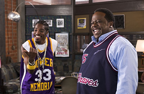 ANDRÉ BENJAMIN and CEDRIC THE ENTERTAINER star as Dabu and Sin LaSalle in MGM Pictures' comedy BE COOL.