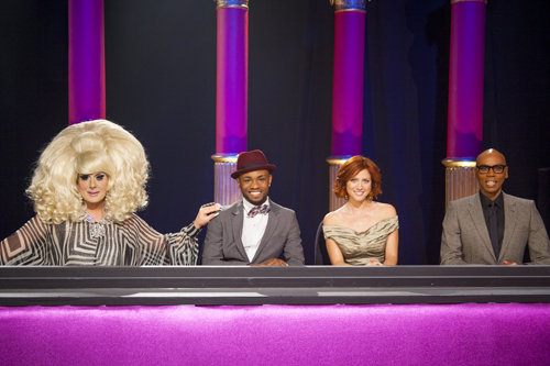RuPaul, Brittany Snow, and The Lady Bunny in RuPaul's Drag U (2010)
