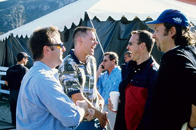 Jim Carrey, Bobby Farrelly, and Peter Farrelly in Me, Myself & Irene (2000)