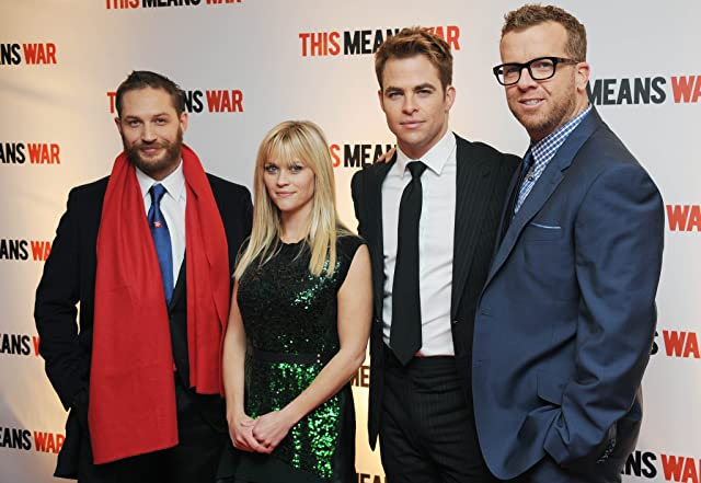 Reese Witherspoon, Tom Hardy, McG, and Chris Pine at This Means War (2012)