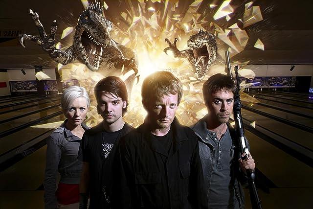 Douglas Henshall, Andrew Lee Potts, James Murray, and Hannah Spearritt in Primeval (2007)