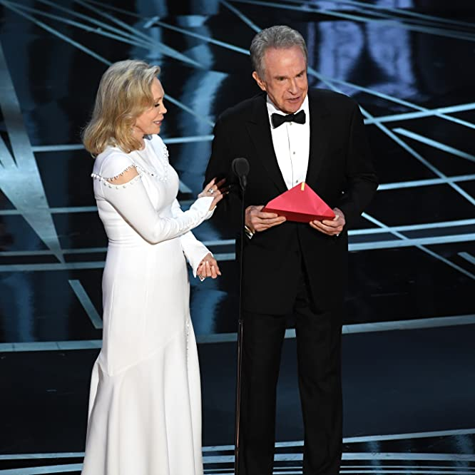 Warren Beatty and Faye Dunaway at an event for The 89th Annual Academy Awards (2017)