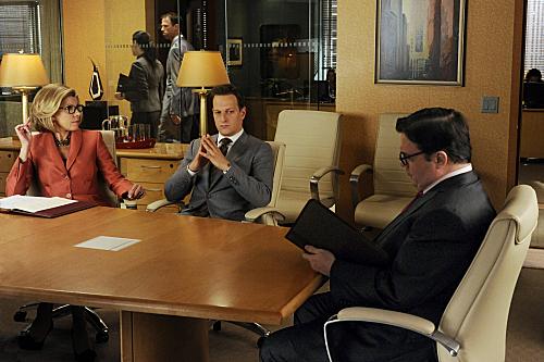 Josh Charles and Christine Baranski in The Good Wife (2009)