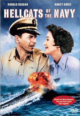 Ronald Reagan and Nancy Reagan in Hellcats of the Navy (1957)