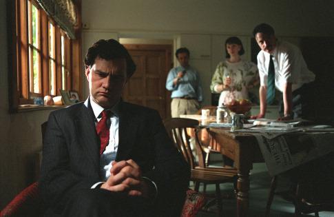 Elizabeth Berrington, David Morrissey, Paul Rhys, and Michael Sheen in The Deal (2003)
