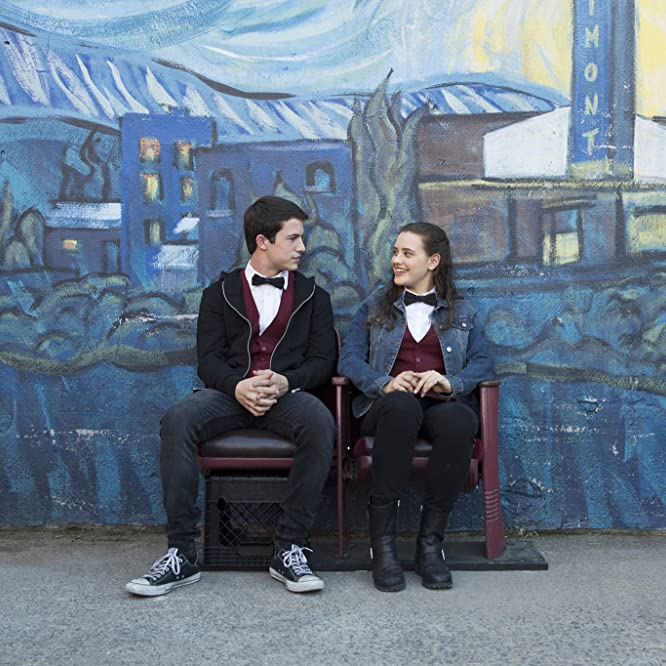 Dylan Minnette and Katherine Langford in 13 Reasons Why (2017)