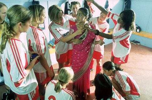 Keira Knightley, Shaznay Lewis, and Parminder Nagra in Bend It Like Beckham (2002)