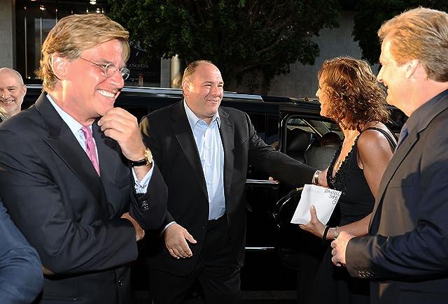 Jeff Daniels, James Gandolfini, and Aaron Sorkin at The Newsroom (2012)