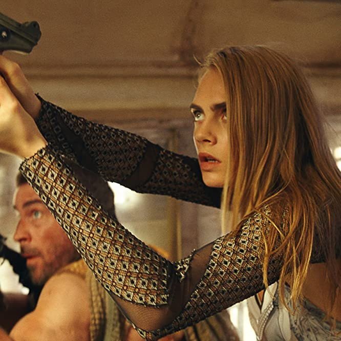 Ola Rapace and Cara Delevingne in Valerian and the City of a Thousand Planets (2017)
