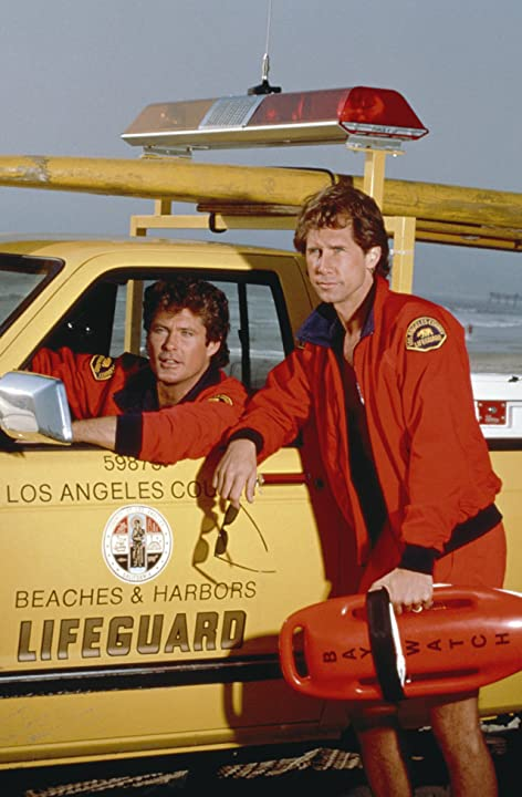David Hasselhoff and Parker Stevenson in Baywatch (1989)