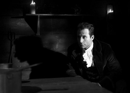 Charles II (Michael Boisvert) in hiding, waits for his love Jaqueline (Karen Cliche) to arrive, in Youngblades Episode 1.04