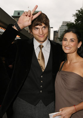 Demi Moore and Ashton Kutcher at Bobby (2006)