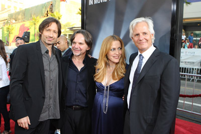Gillian Anderson, David Duchovny, Chris Carter, and Frank Spotnitz at The X Files: I Want to Believe (2008)