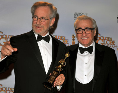 Martin Scorsese and Steven Spielberg at The 66th Annual Golden Globe Awards (2009)