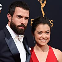 Tatiana Maslany and Tom Cullen at The 68th Primetime Emmy Awards (2016)