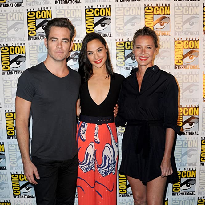 Connie Nielsen, Chris Pine, and Gal Gadot at an event for Wonder Woman (2017)