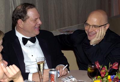 Anthony Minghella and Harvey Weinstein