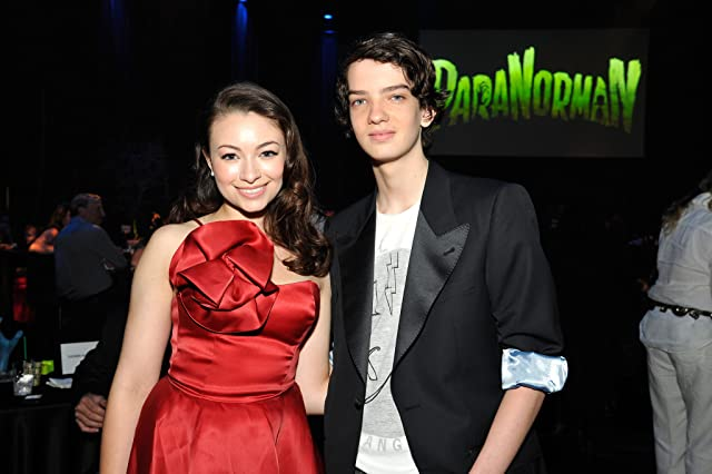 Jodelle Ferland and Kodi Smit-McPhee at ParaNorman (2012)