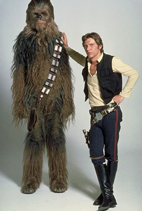 Harrison Ford and Peter Mayhew in Star Wars: Episode IV - A New Hope (1977)