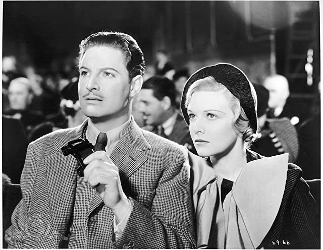 Madeleine Carroll and Robert Donat in The 39 Steps (1935)