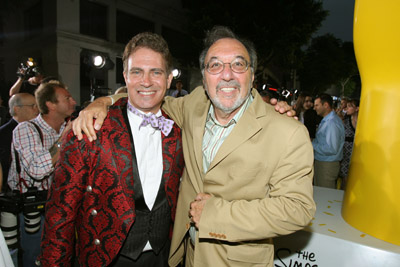 James L. Brooks and David Silverman at an event for The Simpsons Movie (2007)