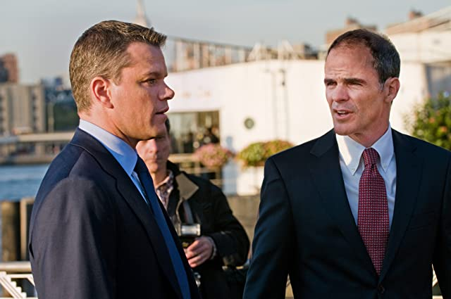 Matt Damon and Michael Kelly in The Adjustment Bureau (2011)