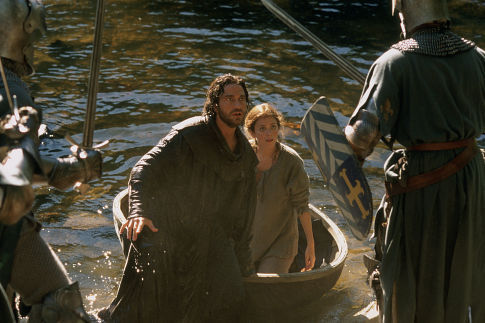 (Left to right) Gerard Butler as Andre Marek and Anna Friel as Lady Claire