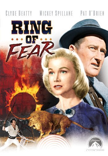 Clyde Beatty, Marian Carr, and Mickey Spillane in Ring of Fear (1954)