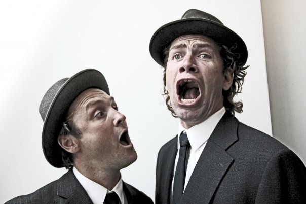 Nikolaj Lie Kaas and Lars Ranthe in A Funny Man (2011)