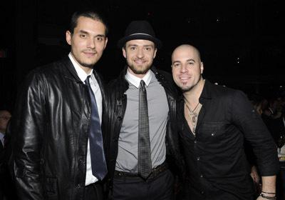 Justin Timberlake, Chris Daughtry, and John Mayer