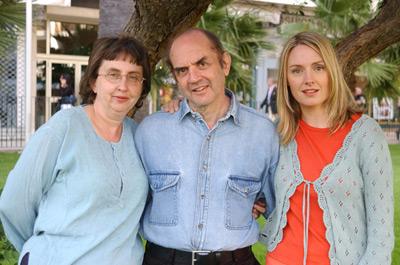 Hope Davis, Harvey Pekar, and Joyce Brabner at American Splendor (2003)