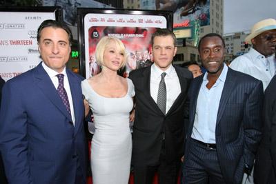 Ellen Barkin, Don Cheadle, Matt Damon, and Andy Garcia at an event for Ocean's Thirteen (2007)