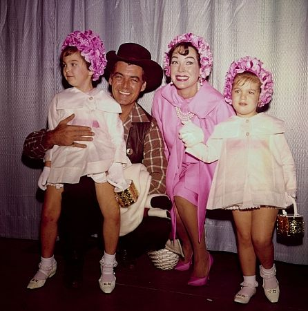 Rory Calhoun and wife Lita Baron with children, Cindy and Tammy C. 1963