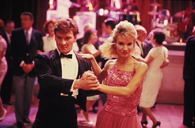 Patrick Swayze and Cynthia Rhodes in Dirty Dancing (1987)